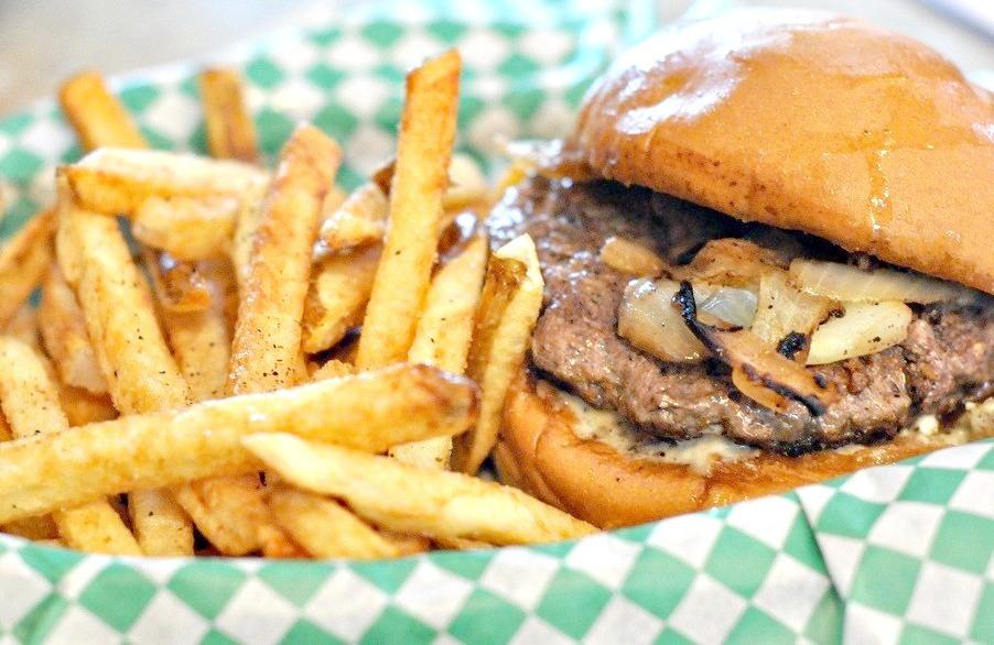 Bleu Cheese Burger at The Nook ~ St Paul, MN (by Kristi Sauer)