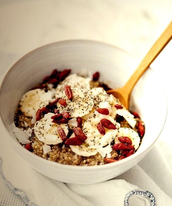 superfood quinoa breakfast bowl.