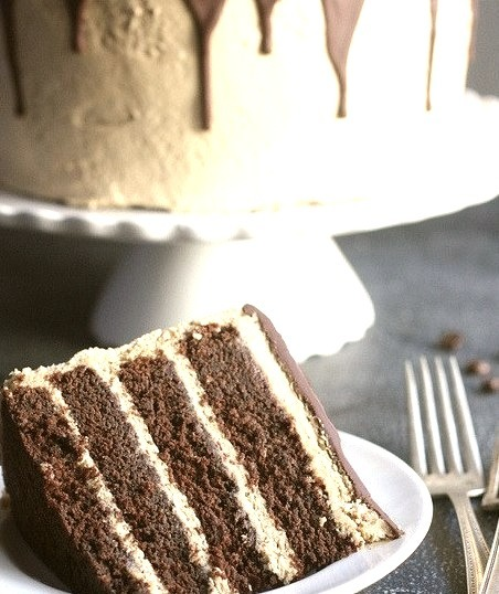 Chocolate Coffee Layer Cake by Completely Delicious on Flickr.