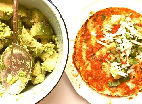 Stuffed Tomato Tortillas