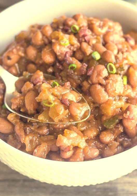sweet & spicy bbq baked beans