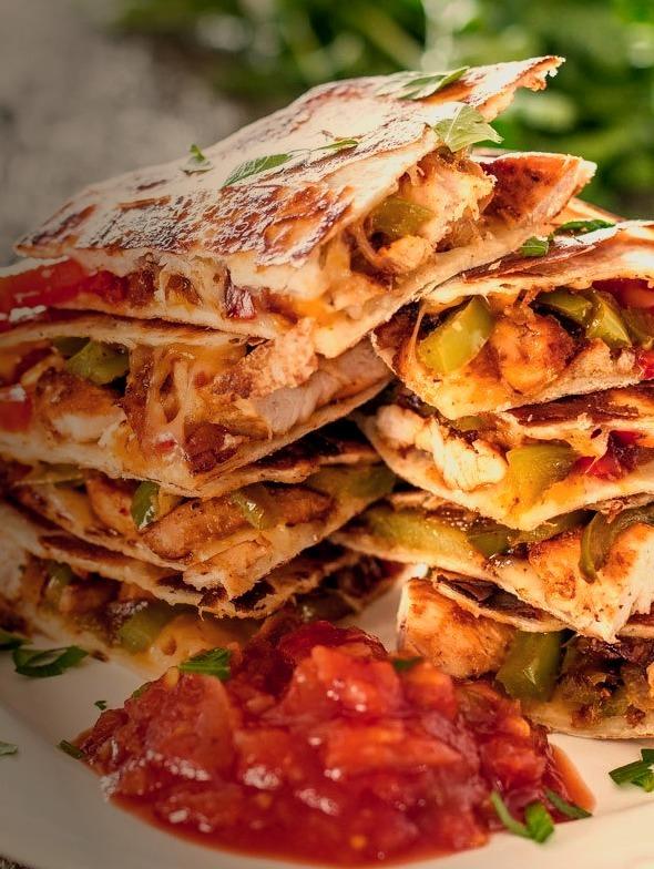 Chicken Fajita Quesadillaswith recipe (link)