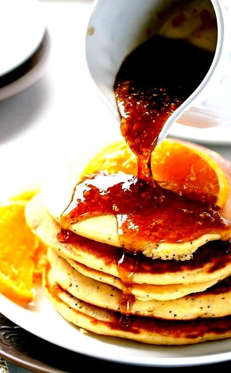 Orange Poppyseed Pancakes