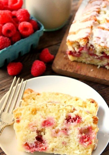 Coconut raspberry bread
