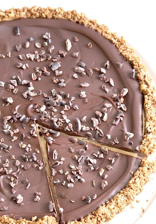 Chocolate Peanut Butter Oat Tart